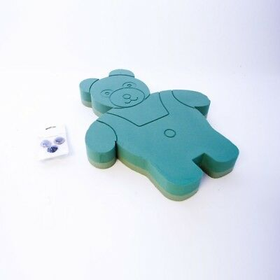 OASIS® FOAM FRAMES® Standing Teddy Bear with Eyes and Nose sku 8265