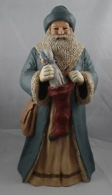 "ALL GODS CHILDREN ""FATHER CHRISTMAS"" 1989 MARTHA HOLCOMBE 12"" TALL FIGURINE jd"