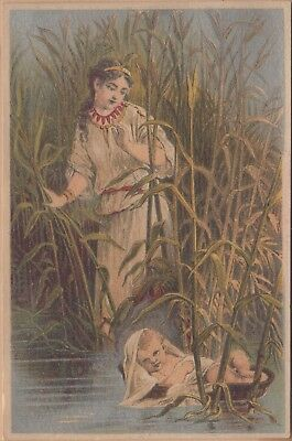 Victorian Trade Card-Dr Jayne's Patent Medicines-Ithaca, NY-The Finding of Moses