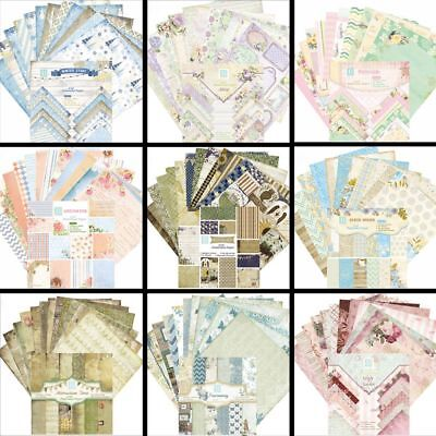 24 Sheets Decor Paper Craft DIY Art Background Card Making Origami Scrapbooking