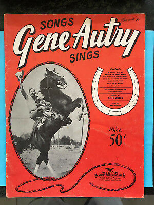 "SONGS GENE AUTRY SINGS  song folio COUNTRY 1942  ""Western Music"""