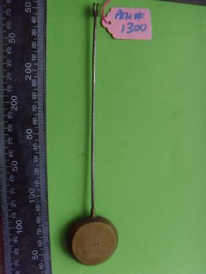 pen#1300 Single french mantle clock pendulum  220mm long