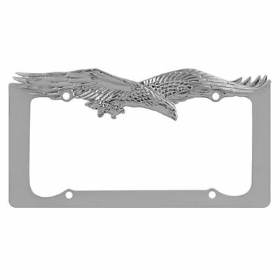 EAGLE CHROME//GOLD METAL LICENSE PLATE FRAME  LPF-476C//G