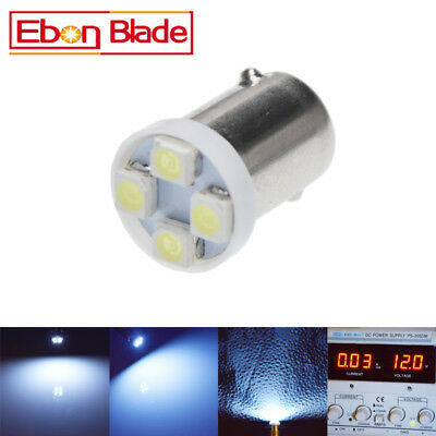 10 x BA9S BAYONET LED LIGHT BULB 4SMD 3528 WHITE PARKER 12V CAR GLOBE INTERIOR