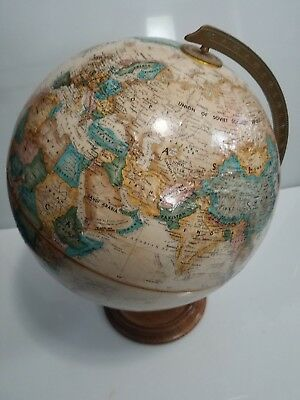 Vintage, REPLOGLE 12 INCH DIAMETER GLOBE World Classic Series on Wooden Base