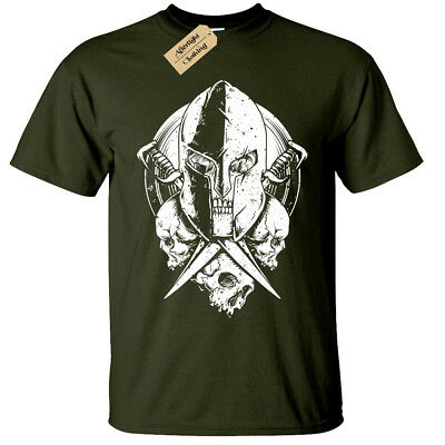 Spartan Warrior Skull Mens T-shirt bodybuilding mma gym fitness training workout