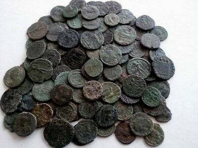 One High Quality Coin Genuine Ancient Roman Hoard Beautiful Patina Bronze