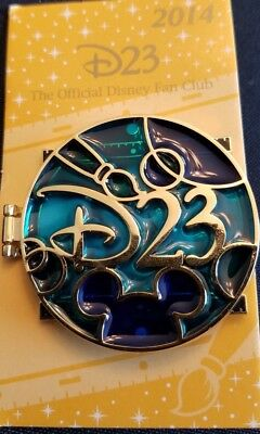 Disney Parks Pin D23-WALT DISNEY Hinged Pin 2014 Ltd-Ed NEW on Card Back