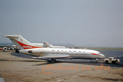 """National Airlines Boeing 727-35 N4615 at BOS in July 1967 8""""x12"""" Color Print"""
