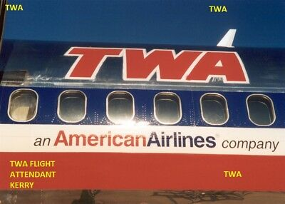 Twa Airlines Aviation Md 80 Airplane Fuselage Merger Photo Photograph Picture