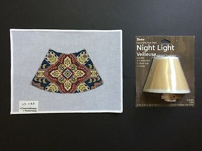 CanvasWorks  Hand-painted Needlepoint Canvas Qashqai Lampshade Cover/Night Light