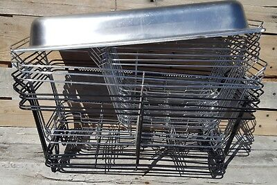 LOT of (15) CHAFING DISH/ BUFFET FOOD WARMER WIRE FRAME STANDS/RACKS & (1) LID