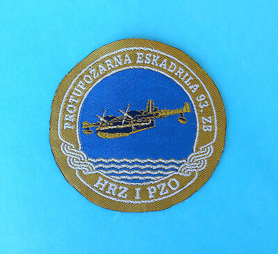 FIREFIGHTING SQUADRON ( Canadair ) - CROATIAN AIR FORCE offic.patch * firemans
