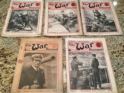1914 & 1915 The War Illustrated Magazines - 5 Magazines Total-Free Shipping