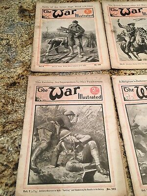 1917 The War Illustrated Paper/Magazines - 12 Magazines Total - Free Shipping