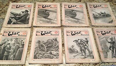 1916 The War Illustrated Paper/Magazines - 8 Magazines Total - Free Shipping
