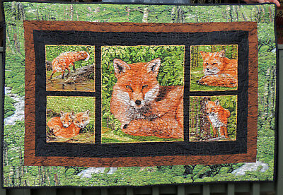 Fox Wall Hanging  Exclusive Quilters