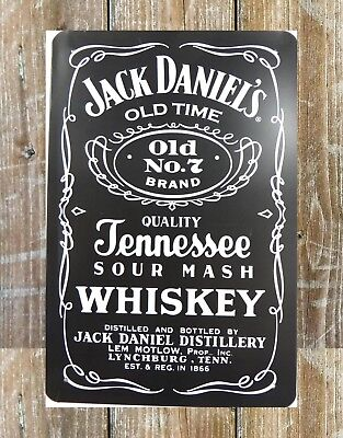 US SELLER, ROOM wall decor Jack Daniels Old Time Whiskey metal tin ...