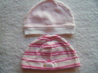 Baby Girl's Winter Hat x 2 Incl Bebe Size 000 VGUC