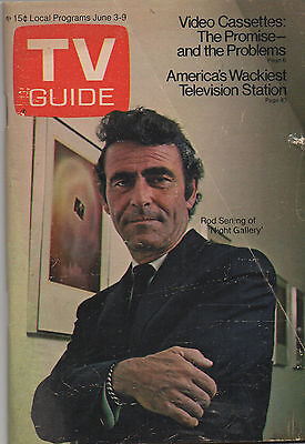 1972 TV GUIDE Rod Serling of Night Gallery June 3-9 NO LABEL