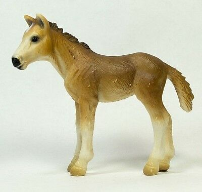 Schleich 2001 Tan Brown Horse Foal Realistic Toy Animal Figure