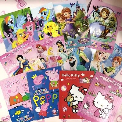 10 Design Kids Stickers Colouring Books Stickers Disney A4 Books Boys Girls Gift