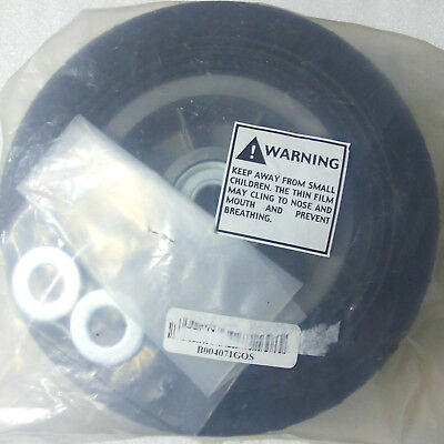 """RWM Casters SN2 8-Inch Diameter Solid Rubber Hand Truck Wheel 2"""" 5/8-Inch Axle"""