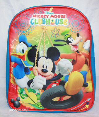 "Disney Mickey Mouse Little Boys Kids Toddler 12"" PreK School Backpack BookBag"