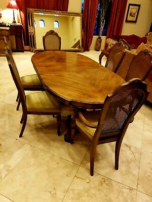 Vintage Late 60 S 70 Stanley Dining Room Table 6 Chairs 81 5 X 42