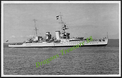 H.M.S. FROBISHER, Photo, Royal Navy Hawkins-class Heavy Cruiser,1924 - 1949