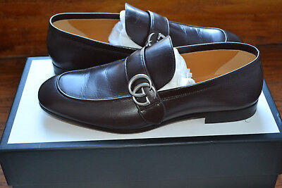 b58cba019c7 NEW NIB  730 Gucci Donnie Leather Loafers Shoes with GG - Sz 10 US ...