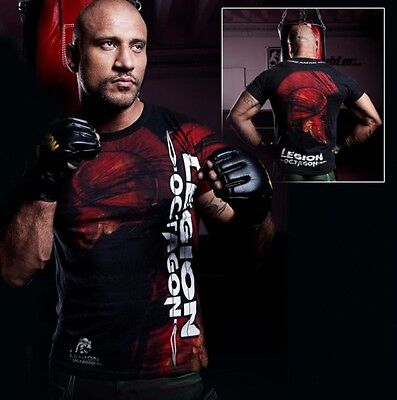 "MMA T-Shirt ""Red Head"" Legion Octagon, schwarz Gr.L * NEU"