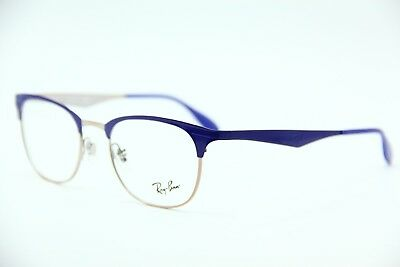 530f11562a New Ray-Ban Rb 6346 2972 Blue Eyeglasses Authentic Frame Rx Rb6346 50-19