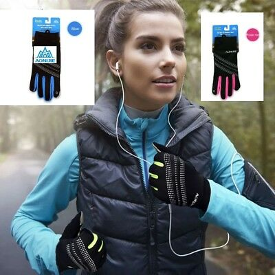 New style Running gloves for winter S/M & L/XL,reflective &touchscreen,3 colours