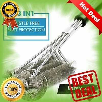BBQ Grill Brush Bristle Free BBQ Brush for Grill No Falling Metals Safe Barbecue