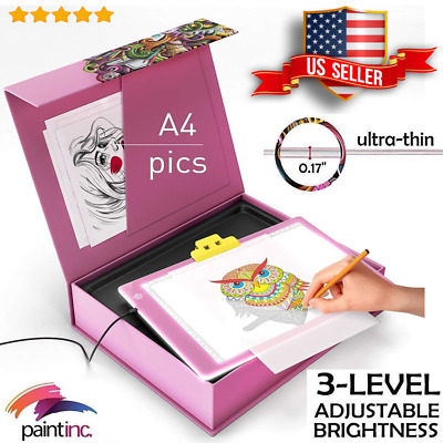 PAINTINC LED Tracing Light Box Board Art Tattoo A4 Drawing Pad Stencil Display