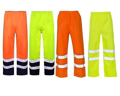 Hi Vis Viz Trouser Workwear High Visibility Work Mens Ladies Reflective