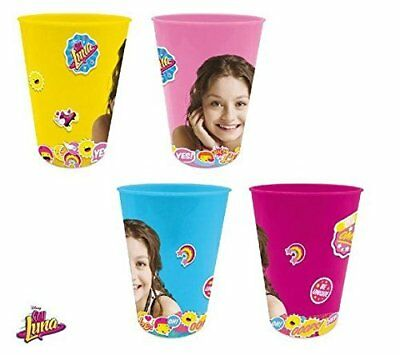 Disney Soy Luna Pack of 4 Cups, Gobelets, Plastic, Multicolored, 15 x 25 (A3z)