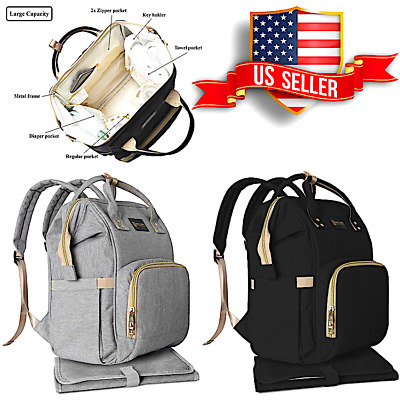 Dilline- Diaper Bag Backpack Waterproof Travel  Nappy Baby Care