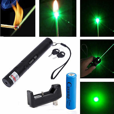 301 Green Laser Pointer 532nm Visible Beam Light Lazer Pen 18650 Battery Charger