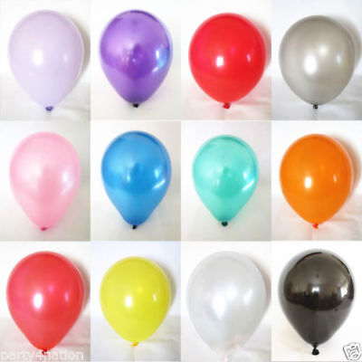 20 Latex Plain Baloons Ballons Helium Balloons Quality Party Birthday Wedding Uk