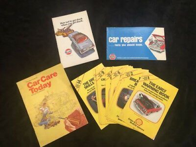 Vintage Shell Answer Books Lot Of 10 Pamphlets Book Collectible Cars Automotive