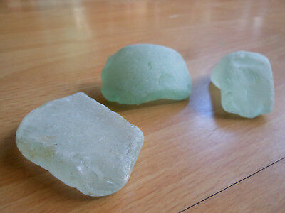 Large Chunky blue green Seaglass. Vintage Northwest Collectable decorative glass