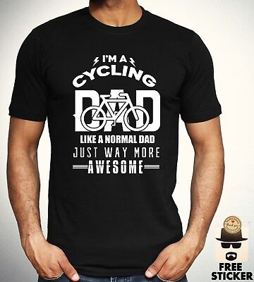 d0d20faa Cycling Dad T shirt Funny Birthday Gift Present Tee Cool Fathers Top Men S  - XXL