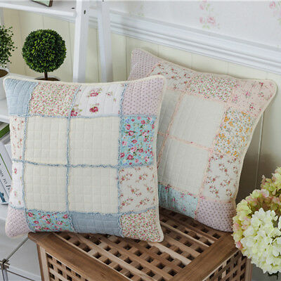 Shabby Chic French Country Cottage Floral Sofa Throw Pillow Cushion Cover