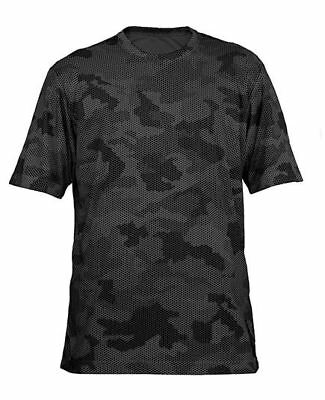 Dry fit performance T shirt men women camo sport workout wicking tee gym s m l