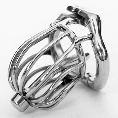 Health & Beauty The Cheapest Price 304 Medical Grade Stainless Chastity Device Cage Arc Spike Ring Plug Ua1064