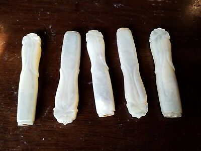 """Five 2 3/4"""" Solid MOTHER OF PEARL ANTIQUE KNIFE HANDLES for CRAFTS"""