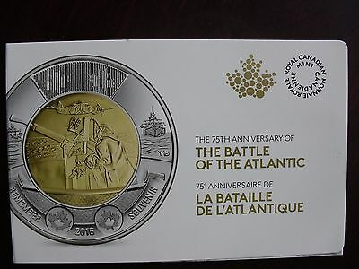 The Battle of  the Atlantic 5 coins set toonie  2016 RCM Uncirculated Canada