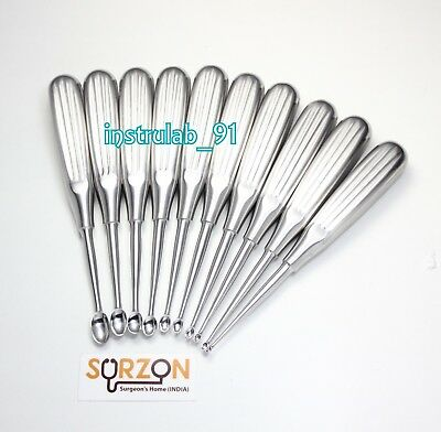Volkman Curette (Set Of 10) Dental Orthopedic Medical Surgical Instrument